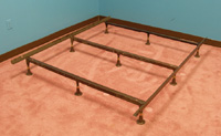 Strobel Organic Heavy-Duty Metal Bed Frame for Regular Beds or Waterbeds Full/Twin