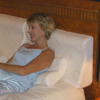 Strobel Organic Supple-Pedic Sit-Up Headboard Pillow, King.
